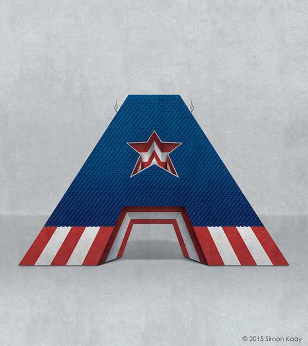 Superhero Themed Alphabets - Captain America
