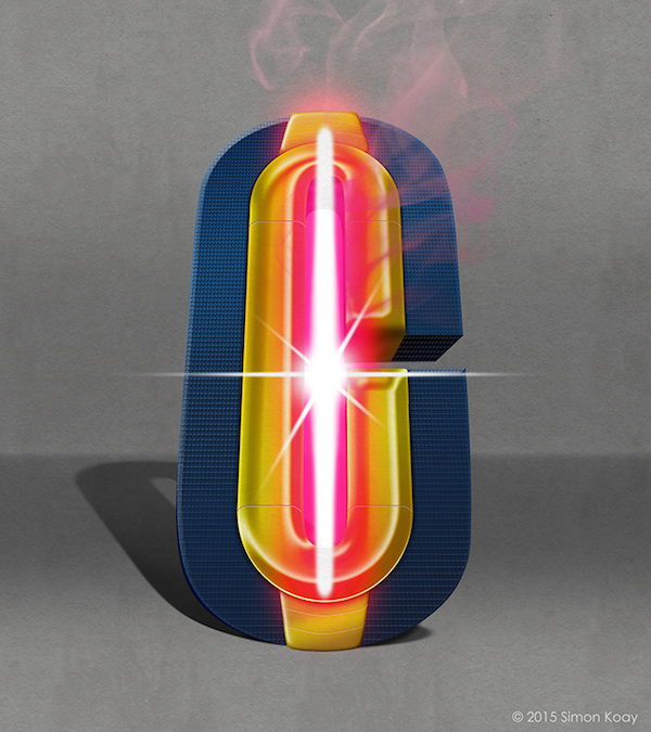 Superhero Themed Alphabets - Cyclops