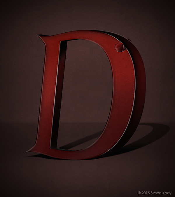 Superhero Themed Alphabets - Daredevil