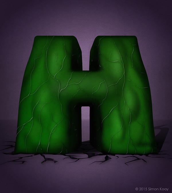 Superhero Themed Alphabets - Hulk