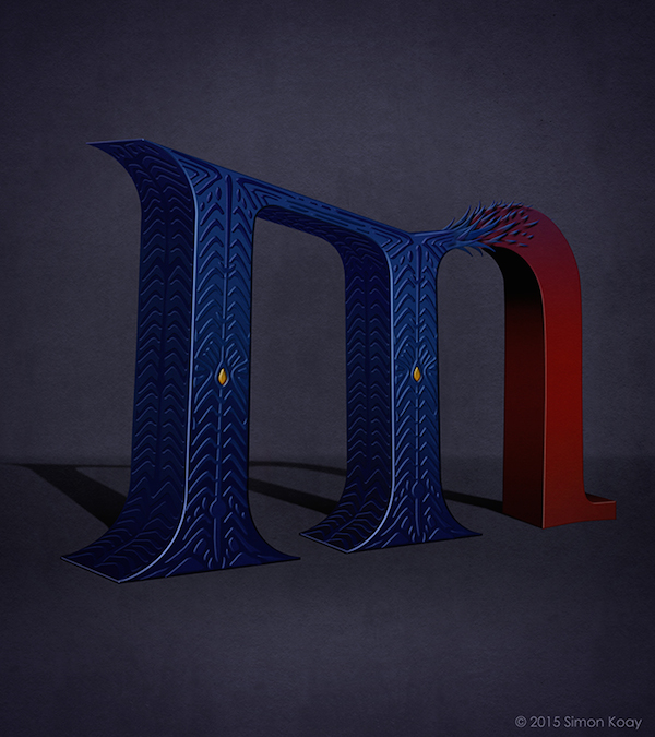 Superhero Themed Alphabets - Mystique