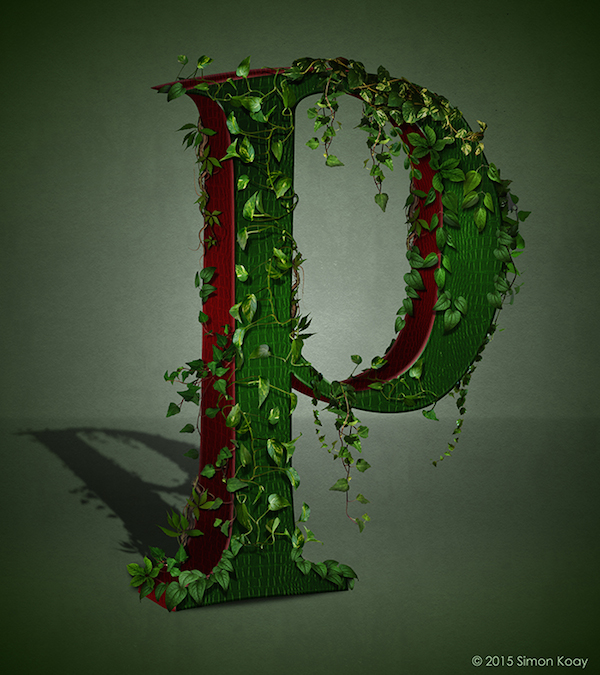 Superhero Themed Alphabets - Poison Ivy