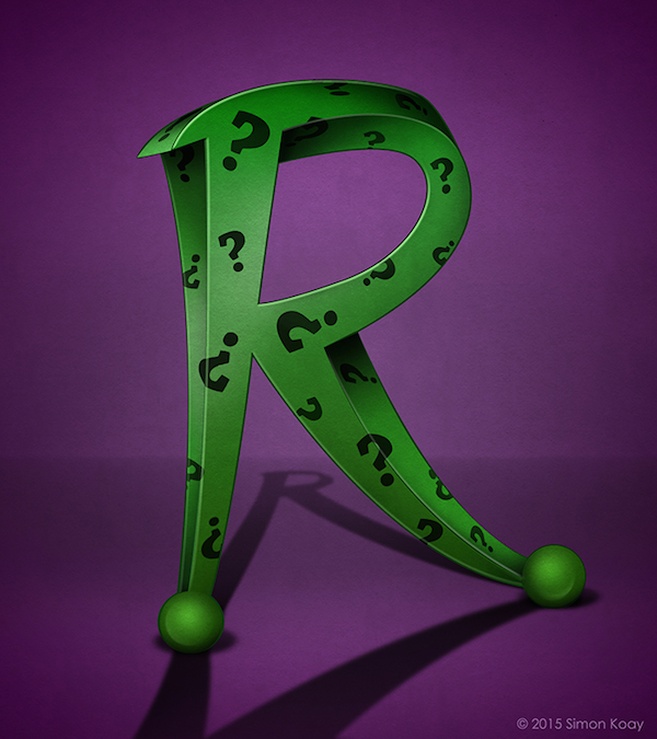 Superhero Themed Alphabets - Riddler