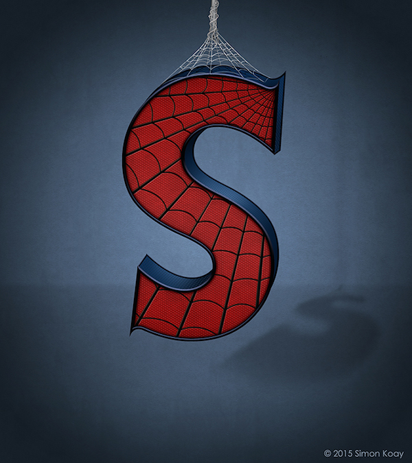 Superhero Themed Alphabets - Spiderman