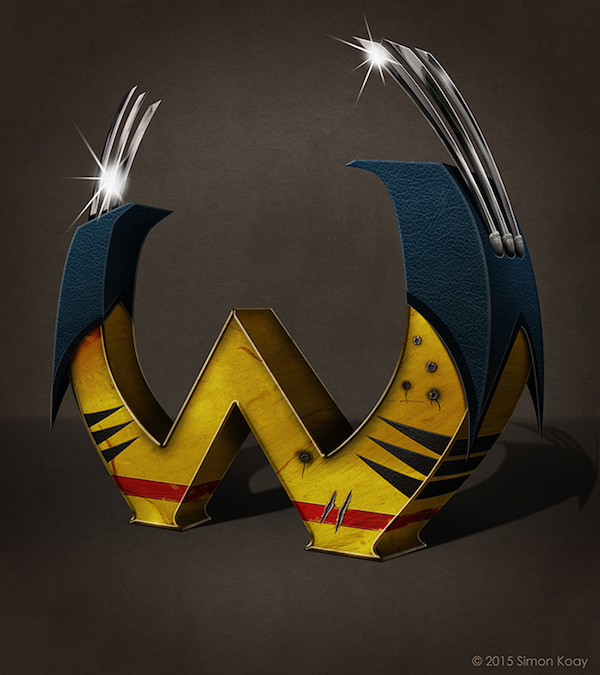 Superhero Themed Alphabets - Wolverine
