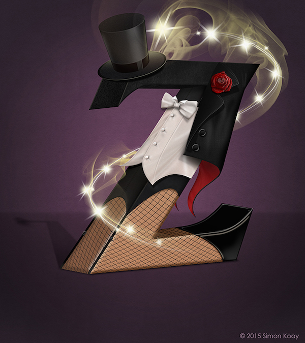Superhero Themed Alphabets - Zatanna