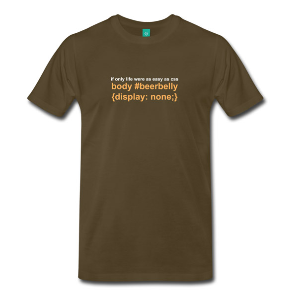 Buy T-Shirts For Graphic & Web Designers - Beer Belly Display None