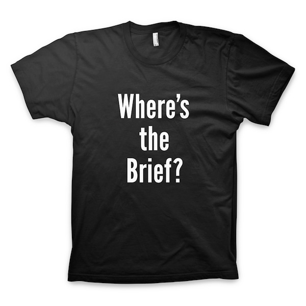 Buy T-Shirts For Graphic & Web Designers - Where's The Brief?