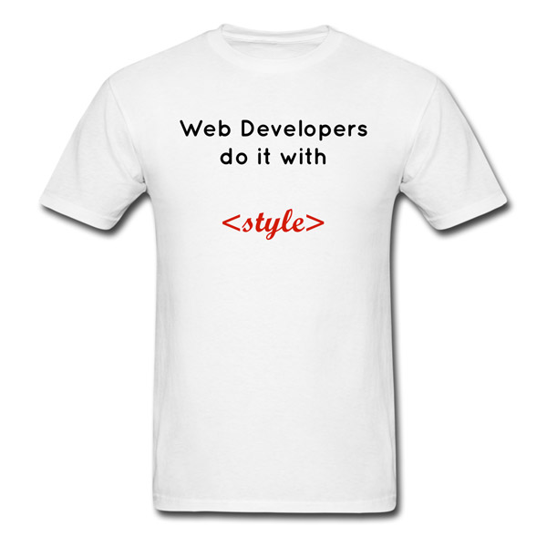 Buy T-Shirts For Graphic & Web Designers - Web Developers Do It With Style