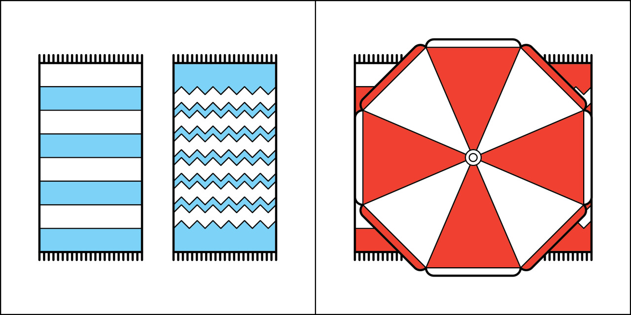 Two kinds of people - Two Beach Towels vs. One