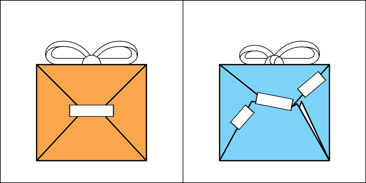 Two kinds of people - Gift Wrapping