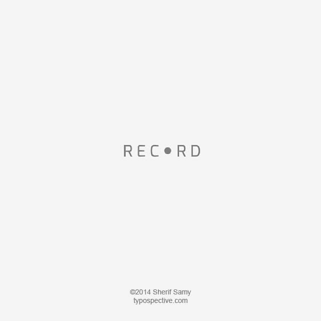 Minimal Type Art Using Letters, Symbols On Mobile Keypad - Record