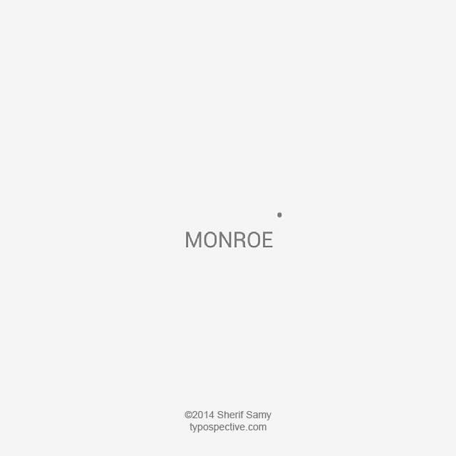 Minimal Type Art Using Letters, Symbols On Mobile Keypad - Monroe