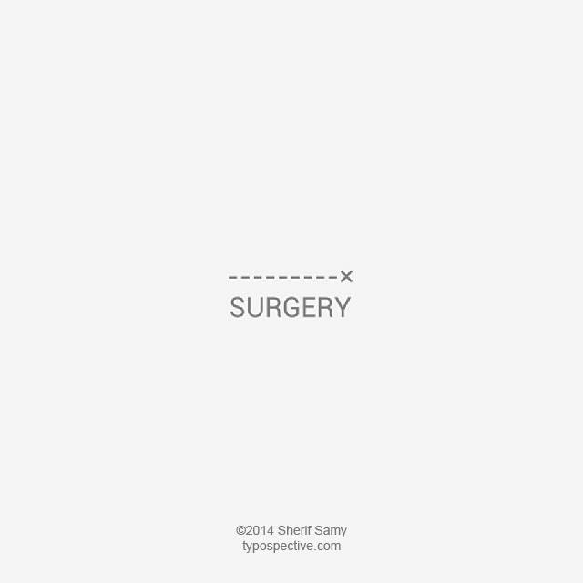 Minimal Type Art Using Letters, Symbols On Mobile Keypad - Surgery