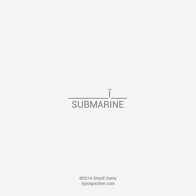 Minimal Type Art Using Letters, Symbols On Mobile Keypad - Submarine