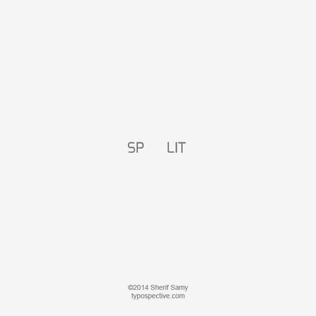 Minimal Type Art Using Letters, Symbols On Mobile Keypad - Split
