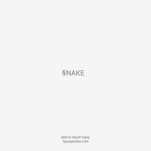 Minimal Type Art Using Letters, Symbols On Mobile Keypad - Snake