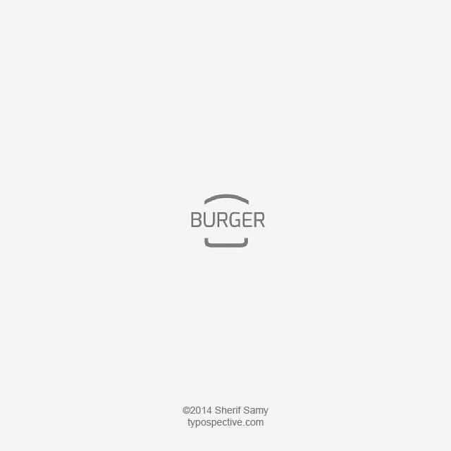 Minimal Type Art Using Letters, Symbols On Mobile Keypad - Burger