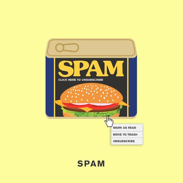 'Spam' by Punny Pixels, an illustrated series of visual puns.