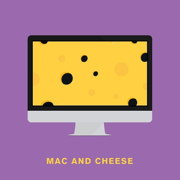 'Mac and cheese' from Punny Pixels, an illustrated series of visual puns.