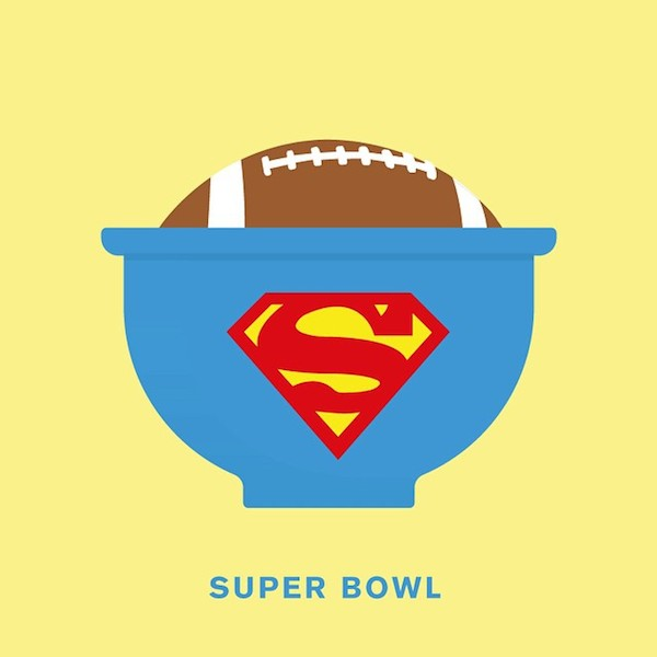 'Super Bowl' from Punny Pixels, an illustrated series of visual puns.
