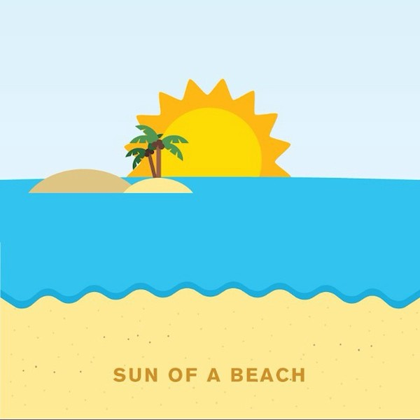 'Sun of a beach' by Punny Pixels, an illustrated series of visual puns.