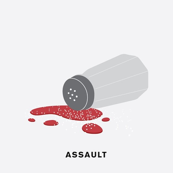 'Assault' by Punny Pixels, an illustrated series of visual puns.