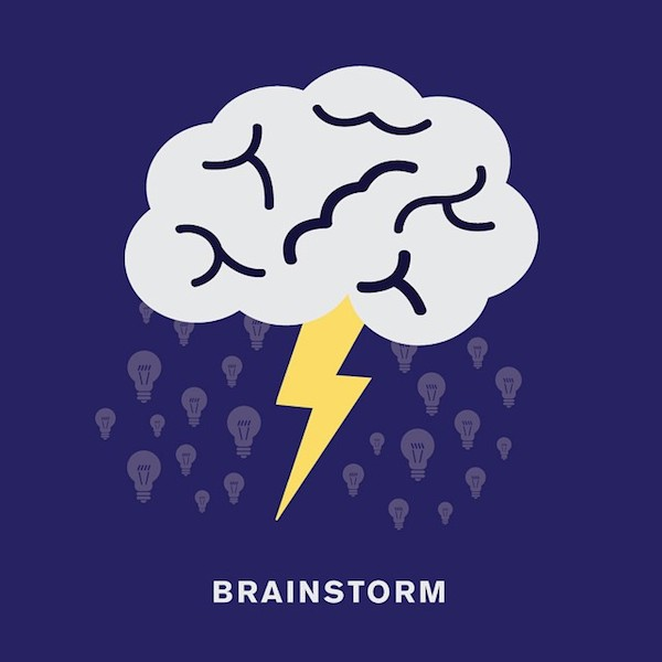 'Brainstorm' by Punny Pixels, an illustrated series of visual puns.