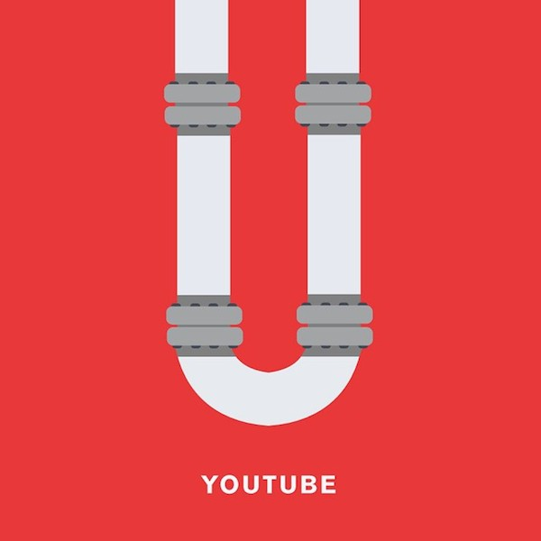 'YouTube' by Punny Pixels, an illustrated series of visual puns.