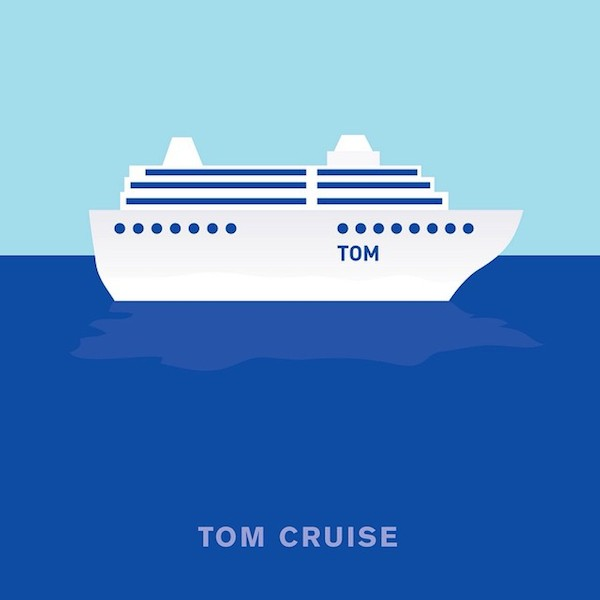 'Tom Cruise' by Punny Pixels, an illustrated series of visual puns.
