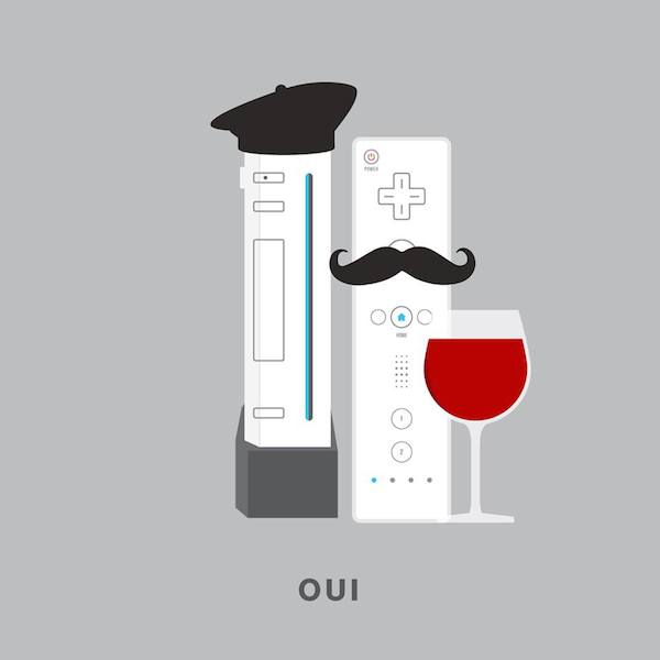 'Oui' by Punny Pixels, an illustrated series of visual puns.