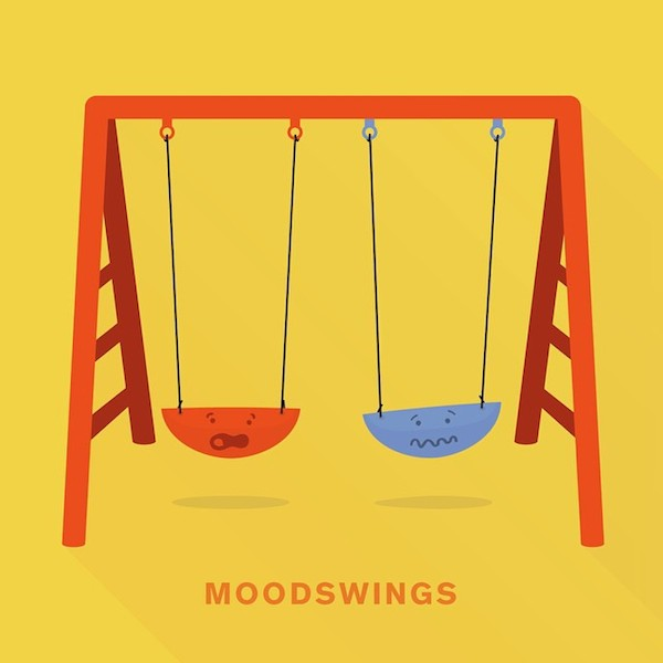 'Moodswings' from Punny Pixels, an illustrated series of visual puns.