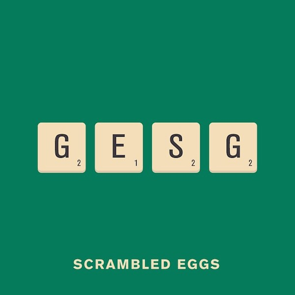 'Scrambled Eggs' from Punny Pixels, an illustrated series of visual puns.