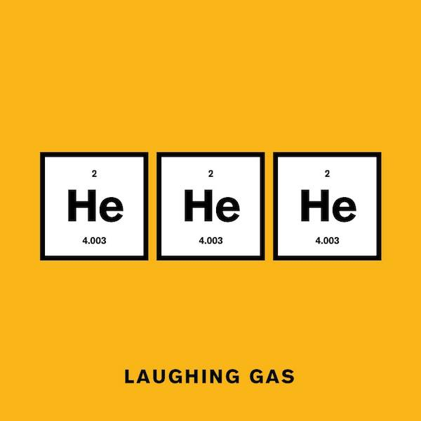 'Laughing Gas' from Punny Pixels, an illustrated series of visual puns.