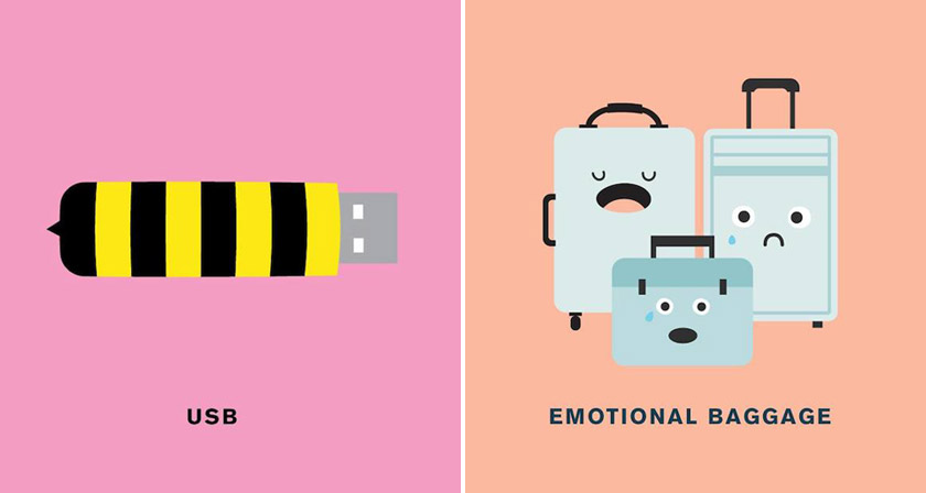 Punny Pixels Illustrated Puns Visual Wordplay on Latest I Write Like
