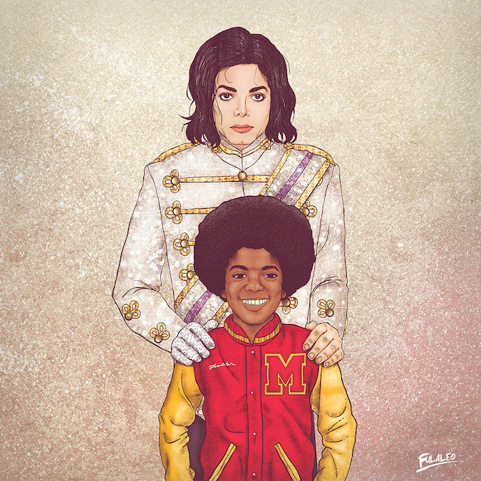 Michael Jackson: Before and After Illustration by Fulvio Obregon