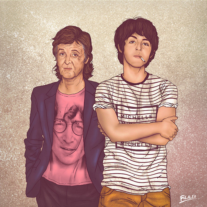 Paul Mccartney: Before and After Illustration by Fulvio Obregon