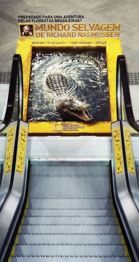 National Geographic: 3D Crocodile Escalator