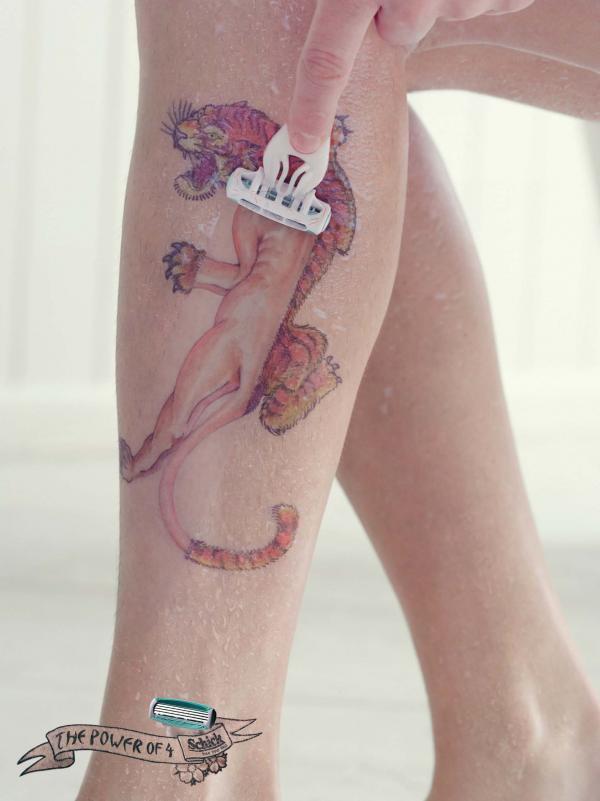 Schick Quattro Razor: Tattoo 2