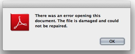 There was an error opening this document. The file is damaged and could not be repaired.