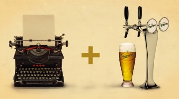For Writers: Czech Beer Company Creates Typewriter That Pours Beer As You Type