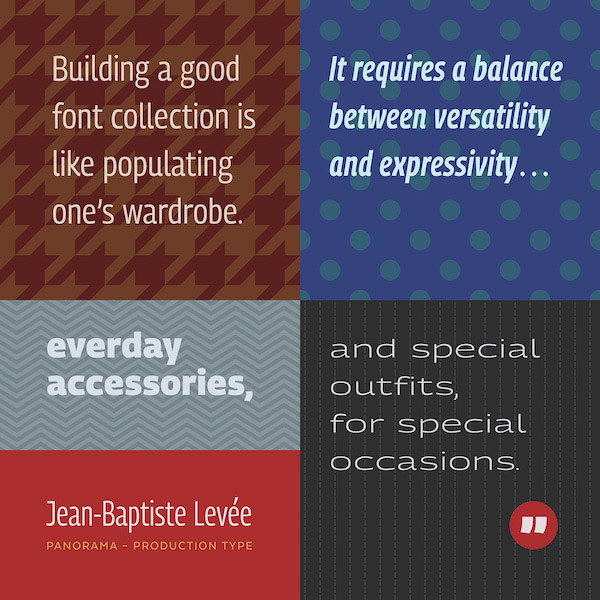 Building a font collection is like populating one's wardrobe