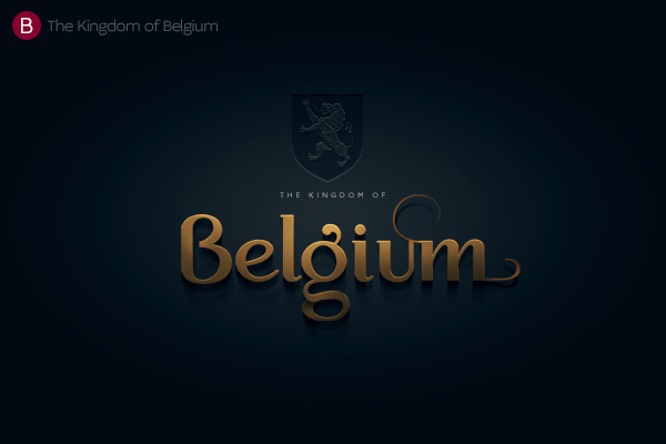 Alphabet of the Countries - Hand-lettered logo of Belgium