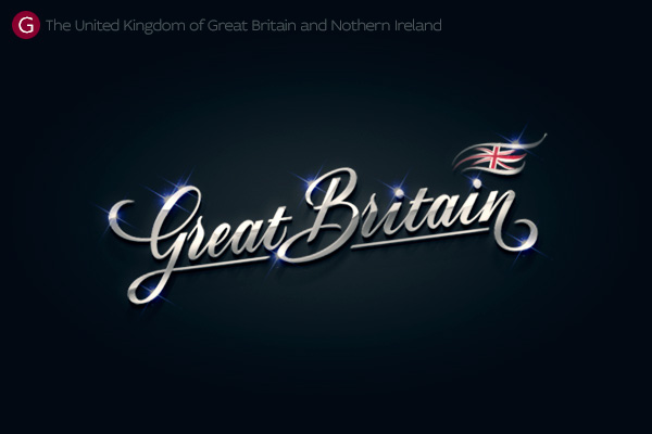 Alphabet of the Countries - Hand-lettered logo of Great Britain