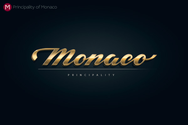 Alphabet of the Countries - Hand-lettered logo of Monaco