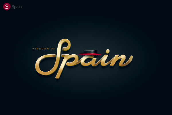 Alphabet of the Countries - Hand-lettered logo of Spain