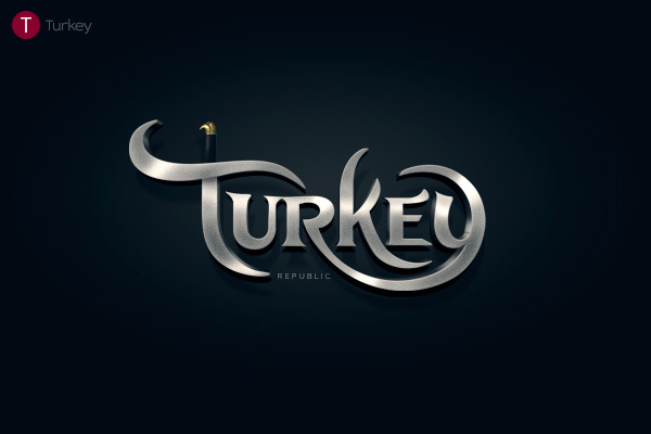 Alphabet of the Countries - Hand-lettered logo of Turkey