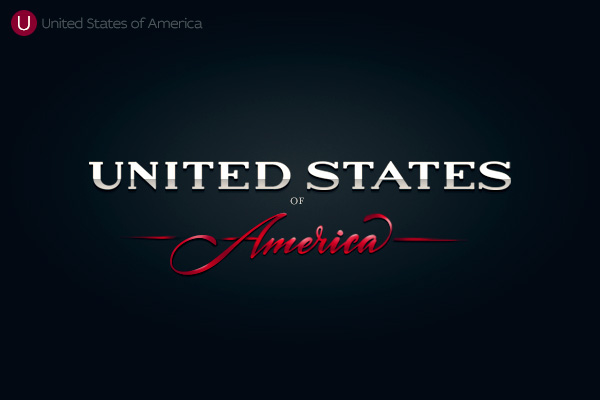 Alphabet of the Countries - Hand-lettered logo of USA
