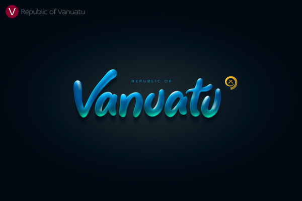 Alphabet of the Countries - Hand-lettered logo of Vanuatu