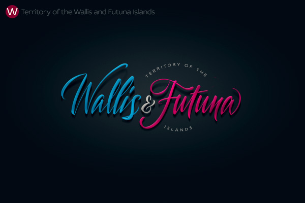 Alphabet of the Countries - Hand-lettered logo of Wallis & Futuna Islands